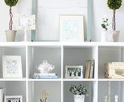Home Office Organization / Organize your home office with these simple home office organization ideas.