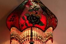 Beaded Lampshades