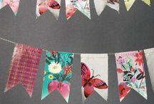 Decorative garland flags