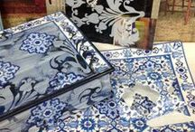 FURNITURE & OBJECT & DECOUPAGE / FURNITURE AND OBJECT DECORATED WITH DECOUPAGE PAPER CALAMBOUR