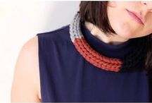 Sisters in Wool | textile necklaces / Sisters in Wool necklaces are the result of the passion for handmade jewellery, for knit and for color in all its shades. Shop online: www.etsy.com/it/shop/SistersInWool