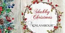 SHABBY CHRISTMAS COLLECTION 2017 / The new Calambour Christmas papers are the perfect blend of originality and tradition: Christmas elements combined with shabby romantic tones will help you create a magical and cozy atmosphere without renouncing the simplicity of Christmas.