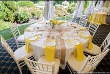 The Tables / This board contains various ideas for how to arrange your tables - including colors, centerpieces, napkin arrangements, and more!