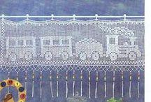 Hæklede gardiner