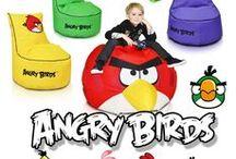 Angry Birds - pufy i fotele z bajki / Bajkowe pufy i fotele dla najmłodszych