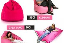 Kolorowe pufy i fotele / A Ty jaki kolor pufy wybierzesz? Zobacz bogatą paletę barw różnych materiałów, z których produkujemy nasze pufy!