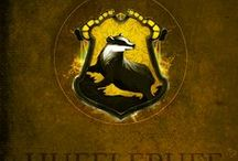 "Hufflepuff / ""You might belong in Hufflepuff, Where they are just and loyal, Those patient Hufflepuffs are true, And unafraid of toil"" —The Sorting Hat"