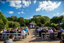 BMH Ceremonies | Garden Terrace / The Garden Terrace is the perfect place for your intimate wedding ceremony or smaller outdoor event. Nestled among gardens with a pergola on the left, rose gardens on the right, and gazebo at front, the Garden Terrace provides a colorful and romantic backdrop for your vows. / by Brandywine Manor House