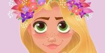 Rapunzel / Everything about Rapunzel:  -Movie -Disney -Book -OUAT -Fanarts -Decor -Toys ....