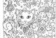 coloring pages ~ inkleur vir grootmense