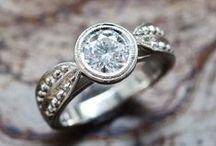 Diamond Engagement Ring / #DiamondEngagementRings #DelicateGem