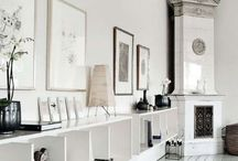 Interior / A mix of white, grey and wood. By NordicBliss
