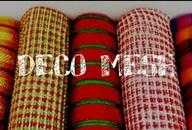 Moore: Deco Mesh / Let your mind run wild & create truly unique decorations for holidays or themed parties!!