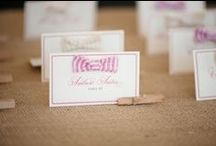 Escort Cards & Table Numbers / Urban Lace Events NYC & VA, DC