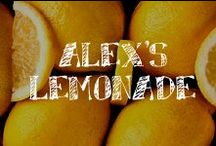 Moore: Alex's Lemonade / A.C. Moore + Alex's Lemonade Stand Foundation= Crafty, Lemony Fun and Support to find a cure for Pediatric Cancer! Enjoy lemon themed projects for your lemonade stand and images!
