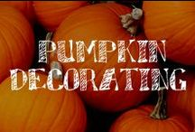 Moore: Pumpkin Decorating / Thinking about how to decorate this year's crop of pumpkins (or Funkins)? Well, cut it out!! Whether your look is spooky or sophisticated, crafty or cute, A.C. Moore has the scoop on this favorite autumn icon.    / by A.C. Moore Arts & Crafts
