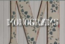 Moore: Monograms / It's personal! Whether fashion or home style, put your stamp on it. / by A.C. Moore Arts & Crafts