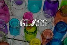 Moore: Glass / It's clear (…ahem…) that our glass is more than half full of clever uses for A.C. Moore's inexpensive and versatile jars, bottles, vases, bowls and other glass containers.