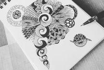 Doodles, tangles, drawings