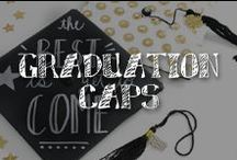 Moore: Graduation Caps / Hats off to this year's graduates… and their inspired DIY caps! We've chosen a few of our favorite decorated mortar boards to go to the head of the class.  / by A.C. Moore Arts & Crafts