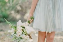 Bridesmaids / #wedding inspiration for #bridesmaids #mix-match #dresses #gowns