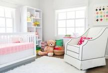 Nursery Ideas / Nursery ideas for boys and girls, including baby furniture, accent pieces, and color inspiration.