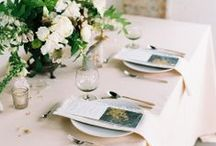 Wedding Place Settings / Wedding Table and Chair Styling
