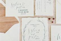 Wedding Stationery / Wedding Stationary Inspiration. #Weddinginvitations, #WeddingMenus, #EscortCards, #Thank You #Cards. #Type, #Typography, #Fonts #organicpapaer #calligraphy