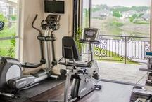 Homestyle Gym #LetsDesign / Can't get to the gym? Workout from the comfort of your own home. Find tips, & ideas here to create your own HomeStyle Gym #GetPumped.