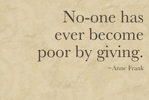 "Eyewear Giving / ""No one has ever become poor by giving"" -Anne Frank-