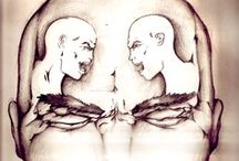 """Art on """"conflict of mind & schizophrenia"""" / ...you are doing it to your self..."""