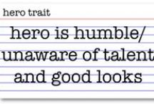 How to Write Hero Traits / These are popular traits for a hero to have, which Harry Potter, Katniss Everdeen, and Bella Swan all share.