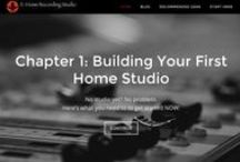 E-Home Recording Studio / E-Home Recording Studio is website for helping musicians build home recording studios.  These are the 5 Main Chapters of the site: