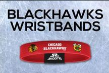Chicago Blackhawks NHL Wristbands and Fan Gear / Shop for Chicago Blackhawks NHL wristbands and fan gear. Find your teams NHL bracelets and gear at Skootz! http://www.skootz.com/