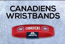 Montreal Canadiens NHL Wristbands and Fan Gear