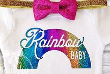 Rainbow Baby / Party, photography, clothing, and announcement ideas for your rainbow baby.