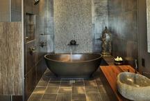 Bathrooms / How many ways can you say bathroom? .......bath, lavatory, powder room, restroom, sauna, shower, shower room, spa, steam room, toilet, washroom, water closet #design #remodel #inspiration