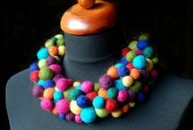 felted wool jewelry