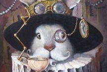 Ilustracje/Grafiki/Zdjęcia / Znajdziesz tu różnego rodzaju ilustracje z królikiem w roli głównej.
