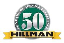 Hillman-Celebrating 50 Years of Service Excellence / Hillman was founded in 1964 by Max Hillman Sr. His two sons Mick and Rick would work for the company for 43 years before retiring.