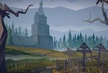 backgrounds, environments / animations backgrounds goals, mostly 2D