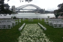 Sydney Outdoor Wedding Ceremony Venues / I never go to a wedding without my smart phone! Just before the wedding guests arrive, I take a photo to show the beautiful ceremony area, ready to go. Sydney is a stunning place to get married outdoors. It has so many spectacular backdrops. I hope you like them.