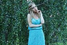 вязаное платье / Волшебные вязаные  платья