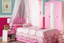 Serie Princess: Cama Princesa / Habitación de la serie Princess de temática de Princesas. Dormitorio temático de princesas