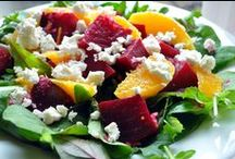 Salads for All Occasions! / All kinds of salads: from traditional salad with lettuce to other kinds of salads with grains, beans, pasta or other goodies tossed together as a meal, side dish or starter.  You can find here recipes for all occasions and all season!  Enjoy!  #salad #dressing #grains #vegetables #beans / by Belgian Foodie