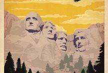 USA vintage posters / Affiches touristiques anciennes des Etats-Unis