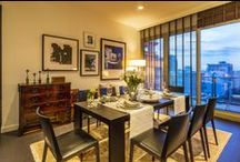 Bangkok livingrooms / Interior design for livingrooms from various condos and apartments in Thailand