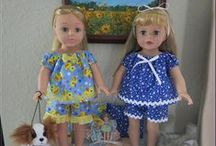 18 inch doll clothes I've made / American Girl Dolls, Madame Alexander, Doll Maker, My Life
