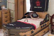 Serie Black Pirate: Cama Pirata / Mobiliario de la serie Black Pirate de Cilekspain, dormitorios temáticos. Todo lo necesario para decorar tu habitación infantil de una forma original
