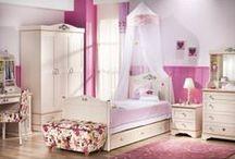 Serie Flora: Cama Princesa / Habitación de Princesas de la serie Flora de Cilekspain, dormitorios temáticos con todos los accesorios necesarios para tener una habitación muy original